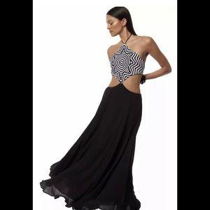 Mara Hoffman Starbasket Embroidered Halter Dress M